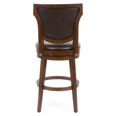 Hillsdale Furniture Country Heights Swivel Counter Stool in Distressed Rustic Cherry