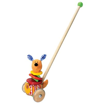 Wonderworld Rapping Kangaroo Sound Producing Push Toy