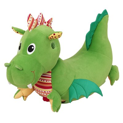 Wonderworld Softwood Puffy Dragon Plush Push/Scoot Ride-On