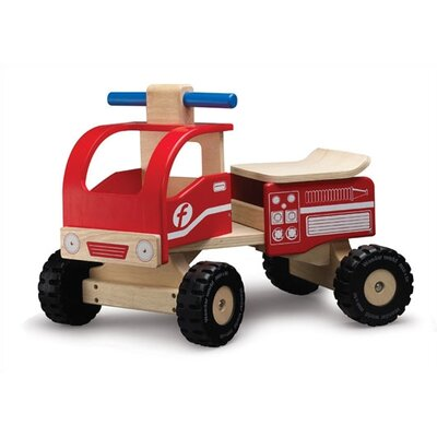 Wonderworld WonderEducation Push/Scoot Fire Truck