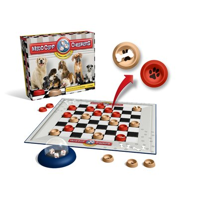 Madd Capp Games Checkers Dog Lovers Edition
