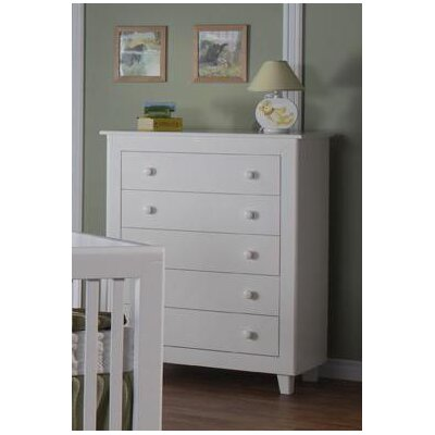 PALI Gala 5-Drawer Chest in White
