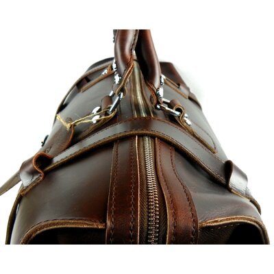 Vagabond Traveler Leather Overnight Travel Duffel