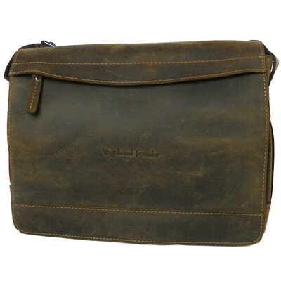 Vagabond Traveler Signature Leather Messenger Laptop Bag