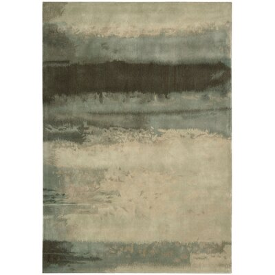 Calvin Klein Home Rug Collection Luster Wash Light Green Scene Rug