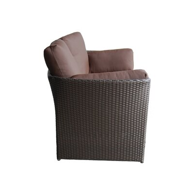 100 Essentials Cerise Loveseat with Cushions