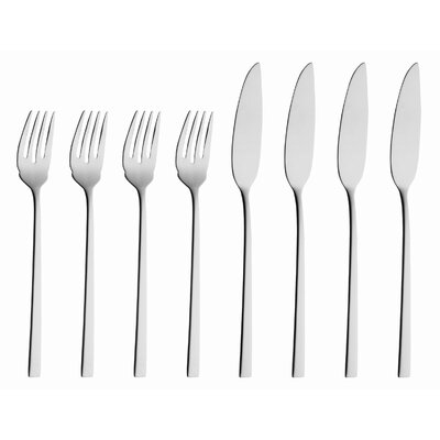 solex Helena 8 Piece Fish Flatware Set