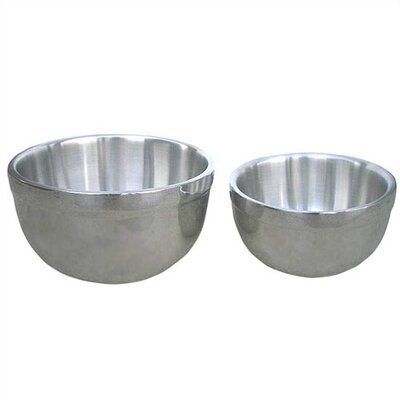 Universal Housewares 2 Piece Double Wall Stainless Steel Mixing Bowl Set