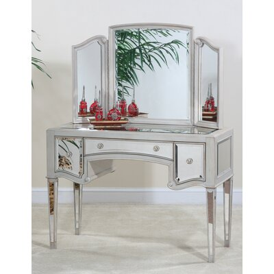 displaying 18 gallery images for mirrored vanity table