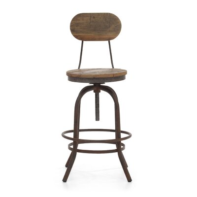 Zuo Era Twin Peaks Swivel Bar Stool