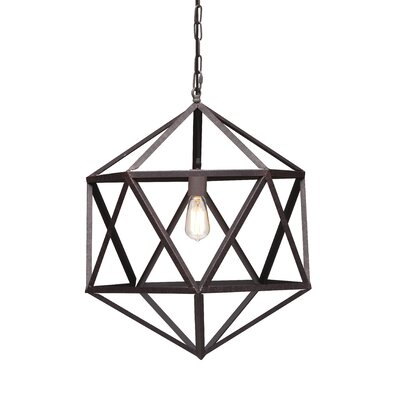 Zuo Era Amethyst 1 Light Ceiling Lamp