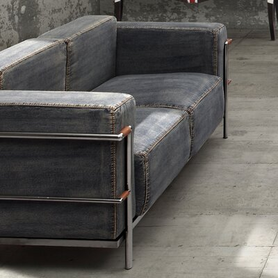 Lasso Denim Loveseat