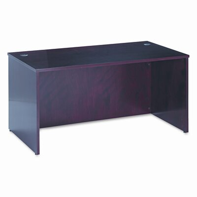 "Basyx by HON 60"" BW Veneer Series Rectangular Executive Desk Shell"