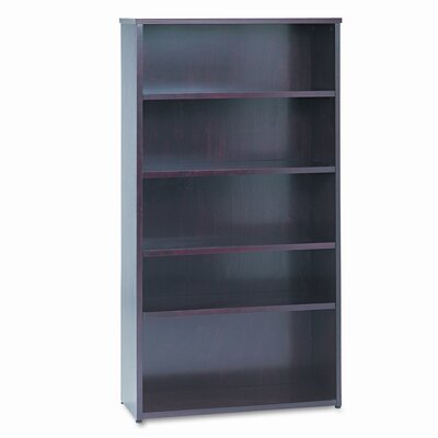 Basyx by HON BW Wood Veneer Series Bookcase, 5 Shelves, 36w x 13d x 66h, Mahogany