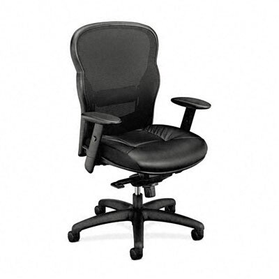 Basyx by HON High-Back Leather/Mesh Office Chair