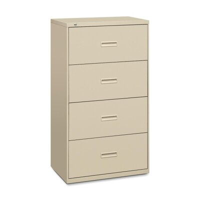 Basyx by HON 400 Series Four-Drawer Lateral File, 30W X53-1/4H X19-1/4D