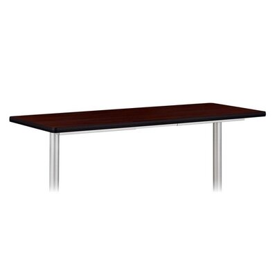 "Basyx by HON Rectangular Tabletop, No Grommets, 72""x24"", Mahogany"