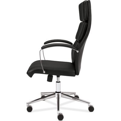 Basyx by HON High Back Leather Executive Task Chair with Arms