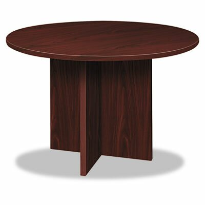Basyx by HON Round Conference Table with X-Base