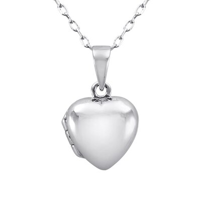 JewelExcess Sterling Silver Locket Heart Pendant