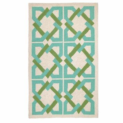Trina Turk Residential Geometric Tile Blue/Green Rug