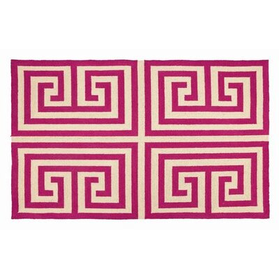 Trina Turk Residential Greek Key Pink Rug