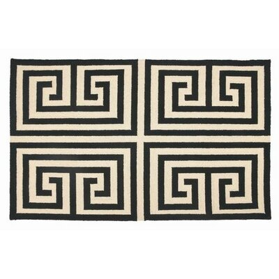 Trina Turk Residential Greek Key Black Rug