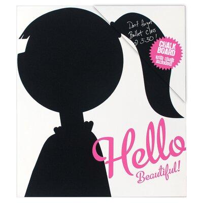 "Malden Hello Beautiful! 1' 1"" x 11.5"" Chalkboard"
