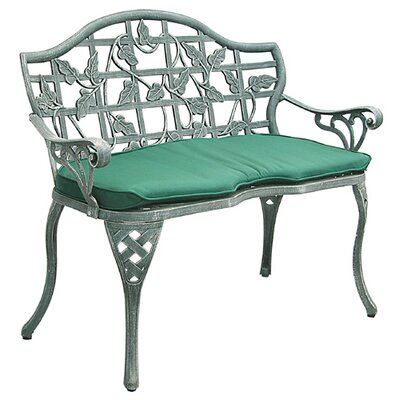 Innova Hearth and Home Ivy Cast Iron/Aluminum Garden Bench with Cushion