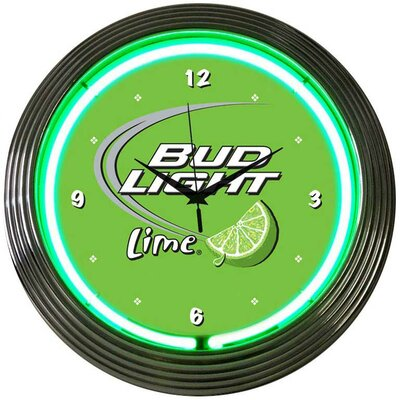 "Neonetics Drinks 15"" Bud Light Wall Clock"