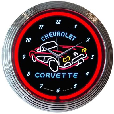 "Neonetics 15"" Corvette C1 Wall Clock"