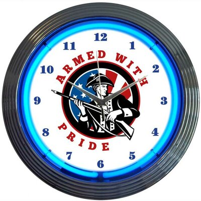 Neonetics Armed  with Pride Firearms Neon Clock