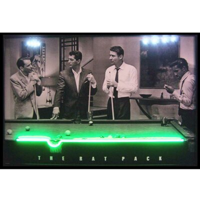 Rat Pack Neon LED Lighted Framed Photographic Print
