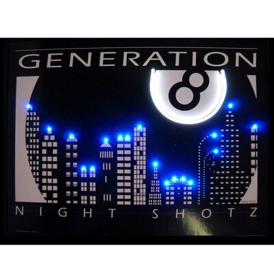 Neonetics Night Shotz Generation 8 Neon LED Poster Sign