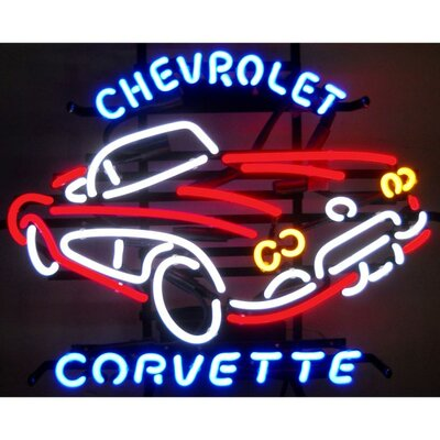 Bar Lights #0: Neonetics Cars Motorcycles GM Corvette 1950s Neon Sign