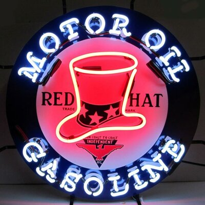 Neonetics Red Hat Gasoline Neon Sign