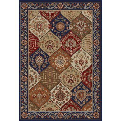 Barclay Navy Wentworth Panel Rug