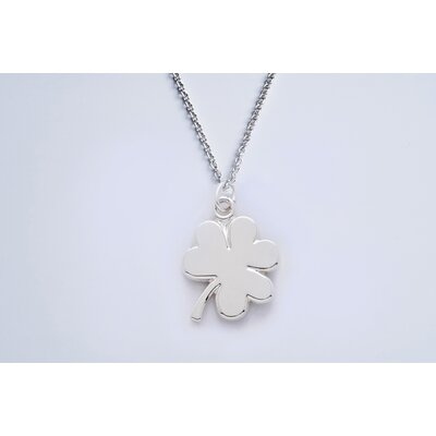 Newport Sterling Sterling Silver Shamrock Cable Necklace