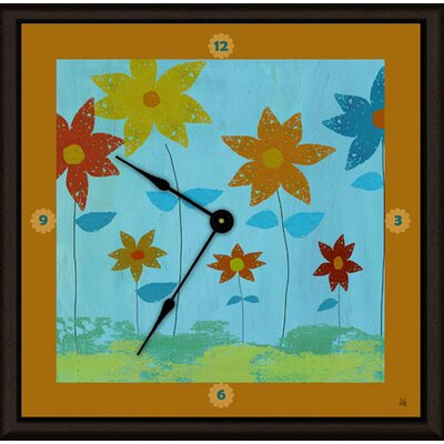 Green Leaf Art Floral Family Art Clock