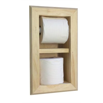 Wg Wood Products Recessed Toilet Paper And Spare Roll