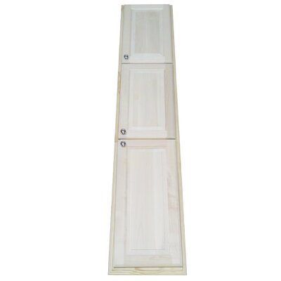 "WG Wood Products 78"" Baldwin Recessed Pantry Storage Cabinet"
