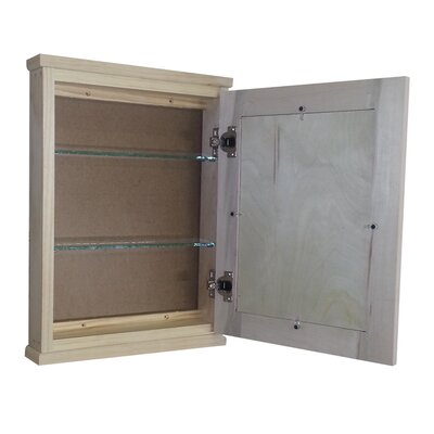 "WG Wood Products Shaker Series 15.25"" x 19.5"" Surface Mount Medicine Cabinet"