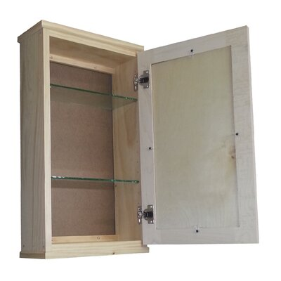 "WG Wood Products Shaker Series 15.25"" x 25.5"" Surface Mount Medicine Cabinet"