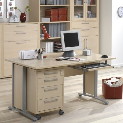 Tvilum Pierce Executive Desk Top with Metal Legs