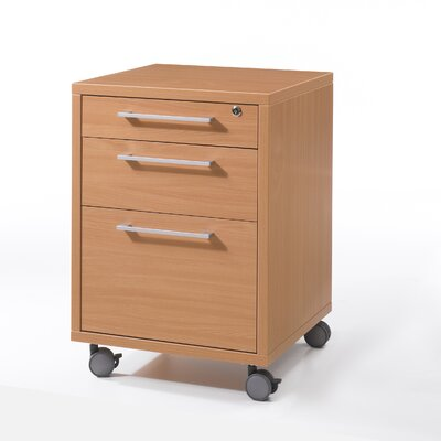 Tvilum Pierce Office Mobile File with Three Drawers in Beech