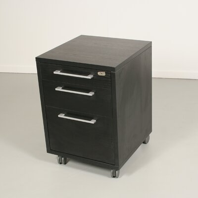 Pierce Office Mobile File with Three Drawer in Coffee