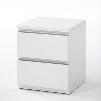 Tvilum Tucson Bedroom 2 Drawer Nightstand