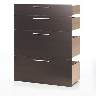 Tvilum Pierce Office Storage Drawers with Two File Drawers in Beech