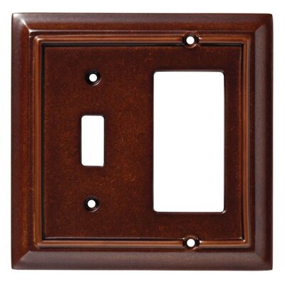 Brainerd Wood Architectural Single Switch-GFCI/Rocker Wall Plate