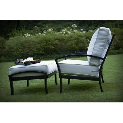 Meadowcraft Maddux Deep Seating Chair and Ottoman with Cushion